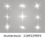 white glowing light explodes on ... | Shutterstock .eps vector #1189229893