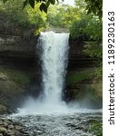 minnehaha falls during the day | Shutterstock . vector #1189230163