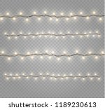 christmas lights isolated... | Shutterstock .eps vector #1189230613