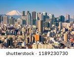 tokyo  japan shinjuku ward... | Shutterstock . vector #1189230730
