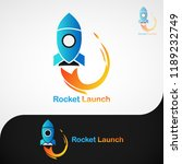 rocket launch logo   this is a... | Shutterstock .eps vector #1189232749