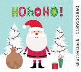 cute santa claus with christmas ... | Shutterstock .eps vector #1189232860