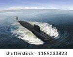Naval submarine on the sea...