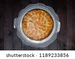 cream cake with tangerines on... | Shutterstock . vector #1189233856