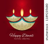happy diwali   traditional... | Shutterstock .eps vector #1189235680