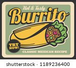 hot and tasty burrito  mexican... | Shutterstock .eps vector #1189236400