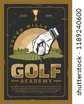 golf academy. hand in white... | Shutterstock .eps vector #1189240600