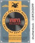 vinyl records retro music...   Shutterstock .eps vector #1189243099