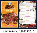 meat house menu  vector farm... | Shutterstock .eps vector #1189245010