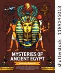 ancient egypt poster  vector... | Shutterstock .eps vector #1189245013