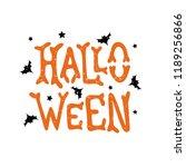 halloween   handdrawn lettering ... | Shutterstock .eps vector #1189256866