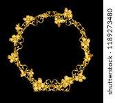 gold vintage flower frame    Shutterstock .eps vector #1189273480