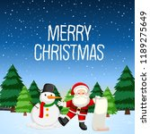 merry christmas with santa and... | Shutterstock .eps vector #1189275649