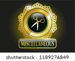 gold emblem or badge with... | Shutterstock .eps vector #1189276849