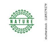 green nature leaf logo template ... | Shutterstock .eps vector #1189279279