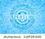 aperture sky blue emblem with... | Shutterstock .eps vector #1189281640