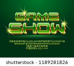 vector chic logo game show.... | Shutterstock .eps vector #1189281826