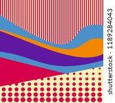geometry minimalistic poster.... | Shutterstock .eps vector #1189284043