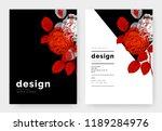 minimalist botanical invitation ...   Shutterstock .eps vector #1189284976