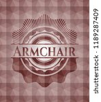 armchair red polygonal badge.... | Shutterstock .eps vector #1189287409