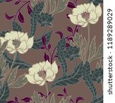beautiful seamless floral... | Shutterstock .eps vector #1189289029
