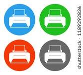 printer icon. print button....   Shutterstock .eps vector #1189292836
