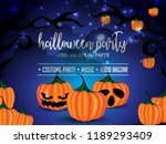 happy halloween poster... | Shutterstock .eps vector #1189293409