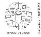 linear banners for bipolar... | Shutterstock .eps vector #1189293853
