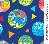seamless colorful ethnic brush...   Shutterstock .eps vector #1189298179
