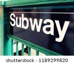 subway sign closeup  | Shutterstock . vector #1189299820
