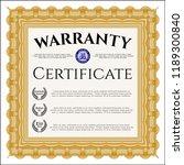 orange warranty. customizable ... | Shutterstock .eps vector #1189300840