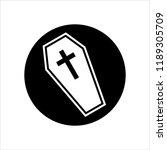 coffin icon  coffin design... | Shutterstock .eps vector #1189305709