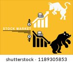 stock market ups and down with... | Shutterstock .eps vector #1189305853