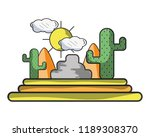 desert and cactus | Shutterstock .eps vector #1189308370