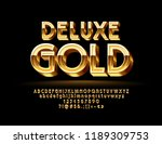 luxury golden 3d font. chic... | Shutterstock .eps vector #1189309753