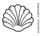 shell cartoon isolated | Shutterstock .eps vector #1189310833