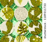 seamless tropical pattern with... | Shutterstock .eps vector #1189311733