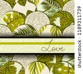 card with tropical patchwork... | Shutterstock .eps vector #1189311739