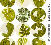 seamless tropical pattern with... | Shutterstock .eps vector #1189311760
