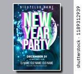 2019 party flyer poster vector. ... | Shutterstock .eps vector #1189312939