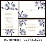 invitation greeting card with... | Shutterstock .eps vector #1189316233
