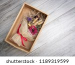 top view bouquet of dried... | Shutterstock . vector #1189319599