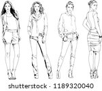 vector drawings on the theme of ... | Shutterstock .eps vector #1189320040
