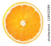 slice of fresh orange isolated... | Shutterstock . vector #118932589