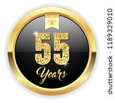 gold 55 years  anniversary... | Shutterstock .eps vector #1189329010