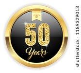 gold 50 years  anniversary... | Shutterstock .eps vector #1189329013