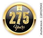 gold 275 years  anniversary... | Shutterstock .eps vector #1189329043