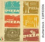 vintage pizza labels   Shutterstock .eps vector #118933306