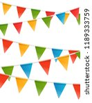 color triangle flags garland... | Shutterstock .eps vector #1189333759
