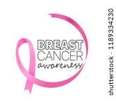 pink ribbon on white background....   Shutterstock .eps vector #1189334230
